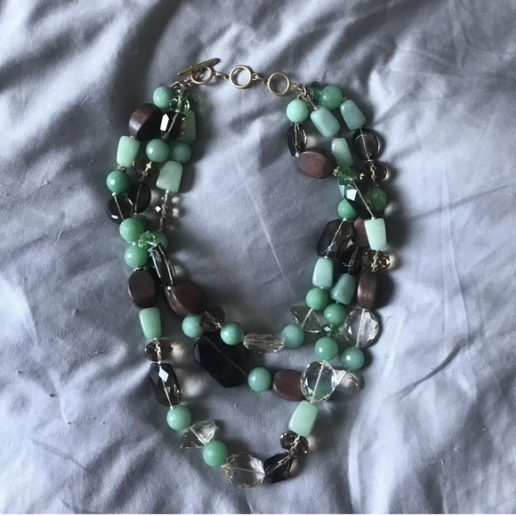 Stella and Dot Necklace Camilla Retired N182 Green